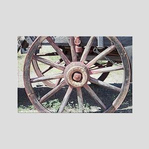 Wagon Wheel Rectangle Magnet