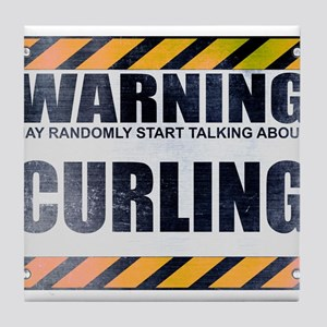 Warning: Curling Tile Coaster