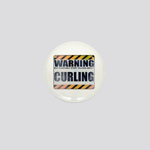 Warning: Curling Mini Button