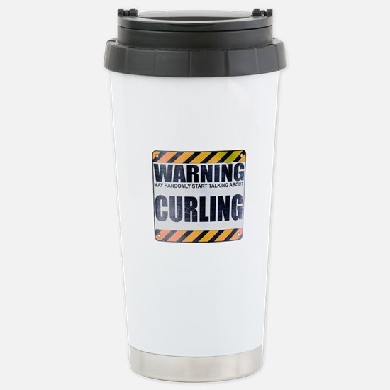 Warning: Curling Ceramic Travel Mug