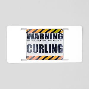 Warning: Curling Aluminum License Plate
