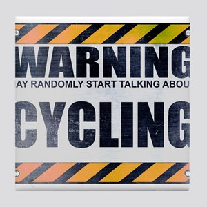 Warning: Cycling Tile Coaster