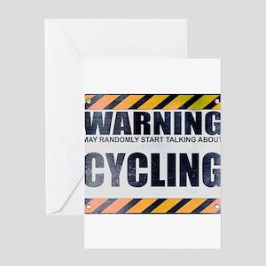 Warning: Cycling Greeting Card