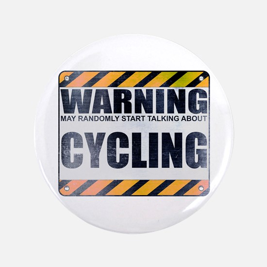 "Warning: Cycling 3.5"" Button (100 pack)"