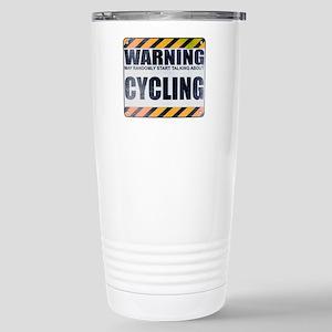 Warning: Cycling Ceramic Travel Mug