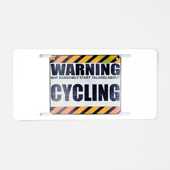 Warning: Cycling Aluminum License Plate