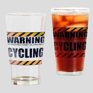 Warning: Cycling Drinking Glass