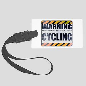 Warning: Cycling Large Luggage Tag