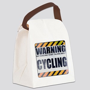 Warning: Cycling Canvas Lunch Bag