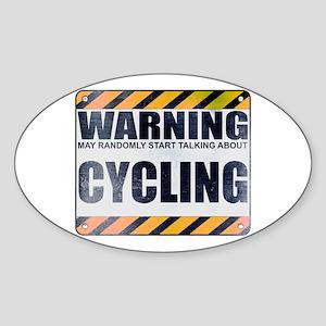 Warning: Cycling Oval Sticker