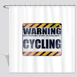 Warning: Cycling Shower Curtain