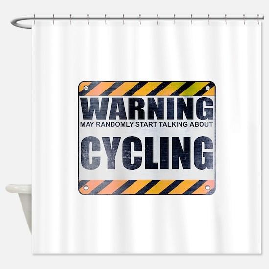 Warning: Cycling Shower Curtain