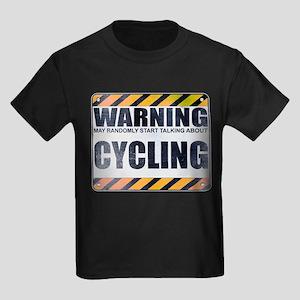 Warning: Cycling Kids Dark T-Shirt