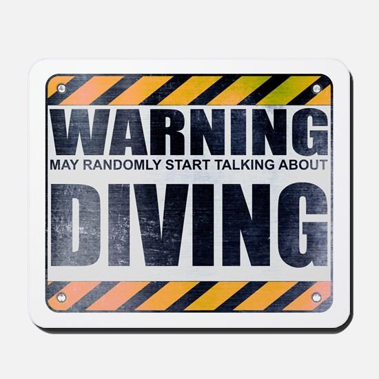 Warning: Diving Mousepad
