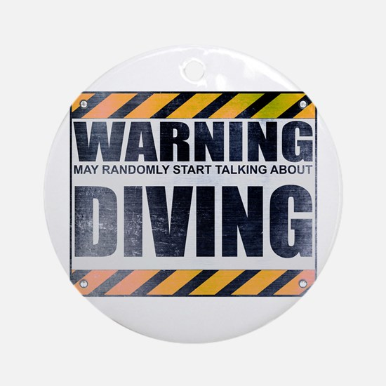 Warning: Diving Round Ornament