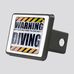 Warning: Diving Rectangular Hitch Cover
