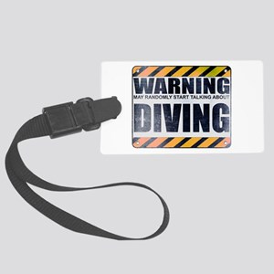 Warning: Diving Large Luggage Tag