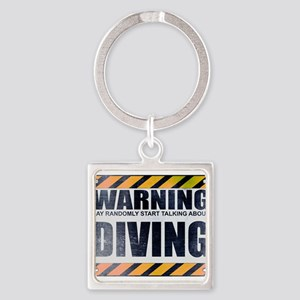 Warning: Diving Square Keychain
