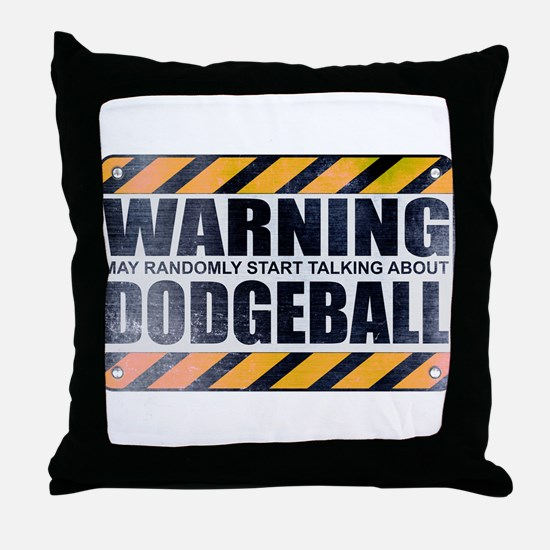 Warning: Dodgeball Throw Pillow