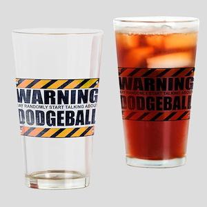 Warning: Dodgeball Drinking Glass
