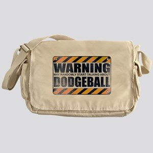 Warning: Dodgeball Canvas Messenger Bag