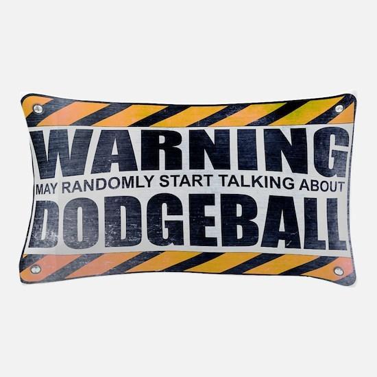 Warning: Dodgeball Pillow Case