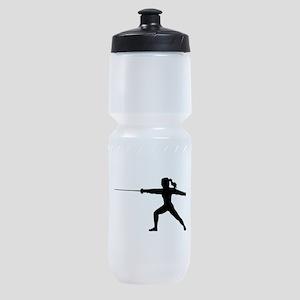 Girl Fencer Lunging Sports Bottle