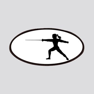 Girl Fencer Lunging Patch