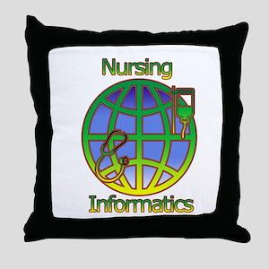 Global Nursing Informatics Throw Pillow
