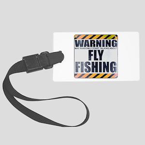 Warning: Fly Fishing Large Luggage Tag