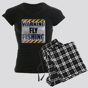 Warning: Fly Fishing Women's Dark Pajamas