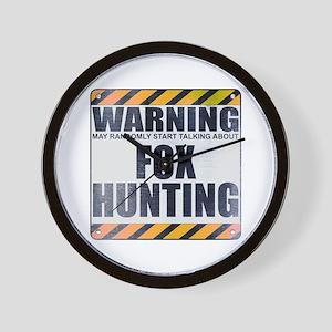 Warning: Fox Hunting Wall Clock