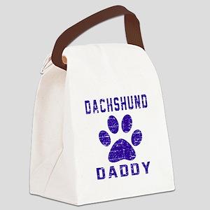 Dachshund Daddy Designs Canvas Lunch Bag