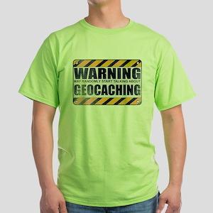 Warning: Geocaching Green T-Shirt