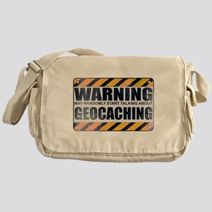 Warning: Geocaching Canvas Messenger Bag