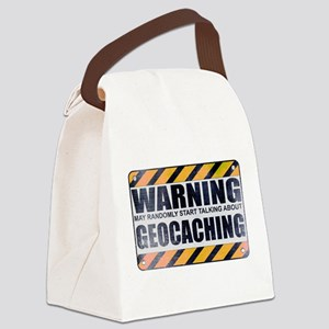 Warning: Geocaching Canvas Lunch Bag