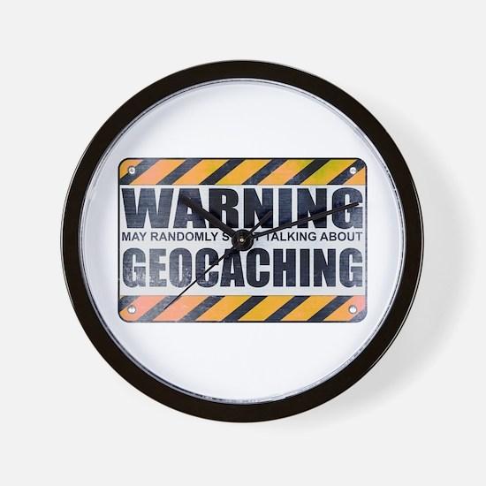 Warning: Geocaching Wall Clock