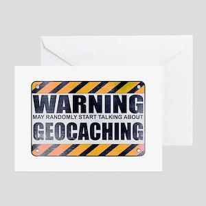 Warning: Geocaching Greeting Card