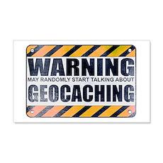 Warning: Geocaching 22x14 Wall Peel