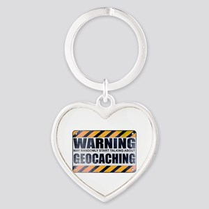 Warning: Geocaching Heart Keychain