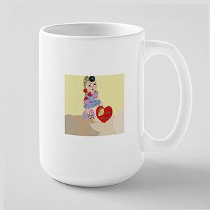 Vintage valentines day Large Mug