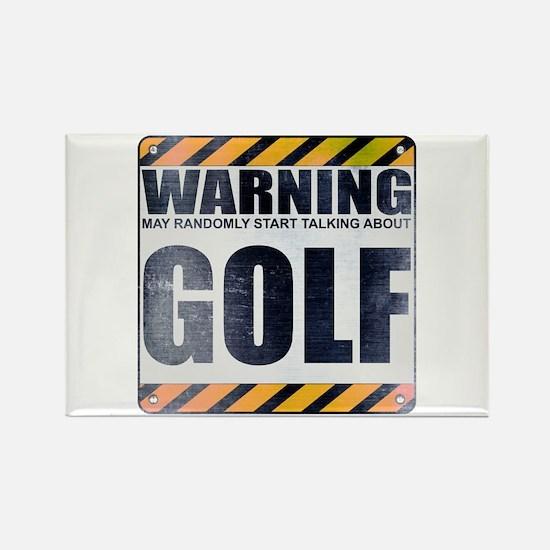 Warning: Golf Rectangle Magnet