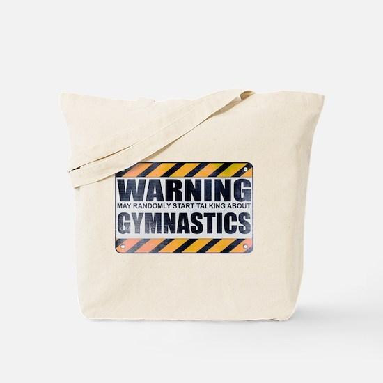 Warning: Gymnastics Tote Bag