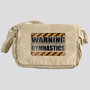 Warning: Gymnastics Canvas Messenger Bag