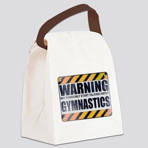 Warning: Gymnastics Canvas Lunch Bag