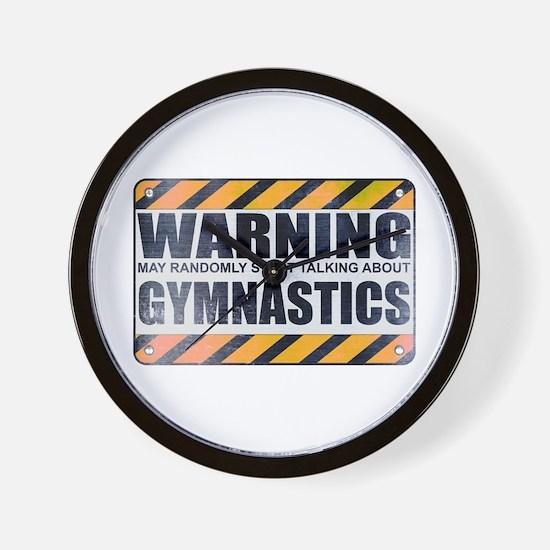 Warning: Gymnastics Wall Clock