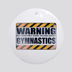 Warning: Gymnastics Round Ornament