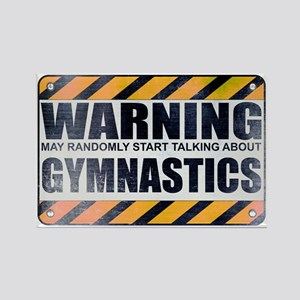Warning: Gymnastics Rectangle Magnet