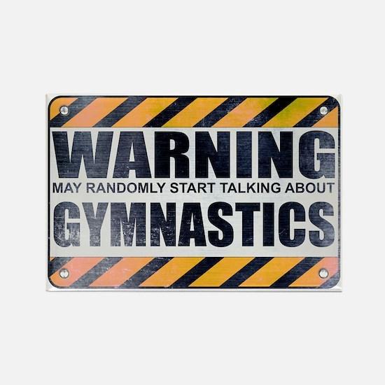 Warning: Gymnastics Rectangle Magnet