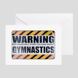 Warning: Gymnastics Greeting Card